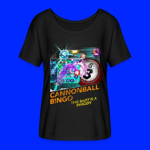 Vintage Cannonball Bingo Box Art Tee - Women's Flowy T-Shirt