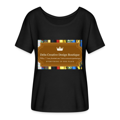 Debs Creative Design Boutique with site - Women's Flowy T-Shirt