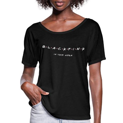 Black Pink Friends - Women's Flowy T-Shirt