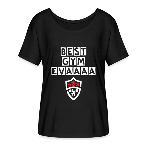 Best Gym Evaaa White and Red - Women's Flowy T-Shirt