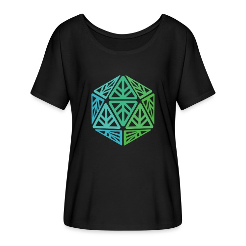 Green Leaf Geek Iconic Logo - Women's Flowy T-Shirt