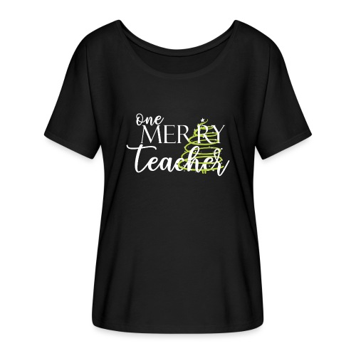 One Merry Teacher Christmas Tree Teacher T-Shirt - Women's Flowy T-Shirt