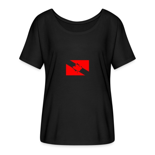 Clear White Dive Canada v. Small - Women's Flowy T-Shirt