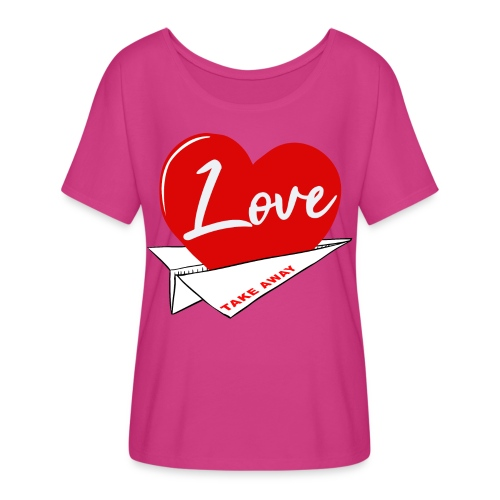 Love take away - Women's Flowy T-Shirt