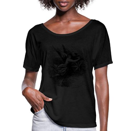Angel at the helm - Women's Flowy T-Shirt