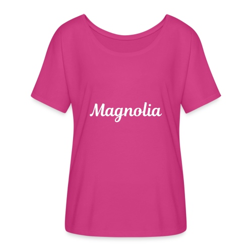 Magnolia Abstract Design. - Women's Flowy T-Shirt