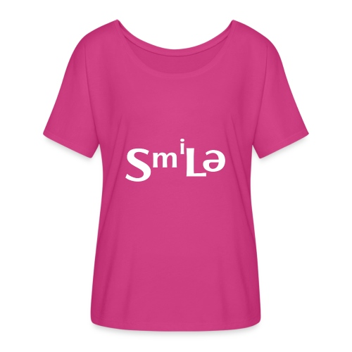 Smile Abstract Design - Women's Flowy T-Shirt