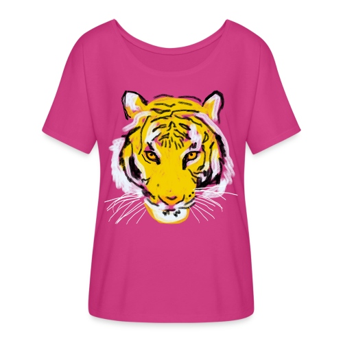 Tiger head - Women's Flowy T-Shirt