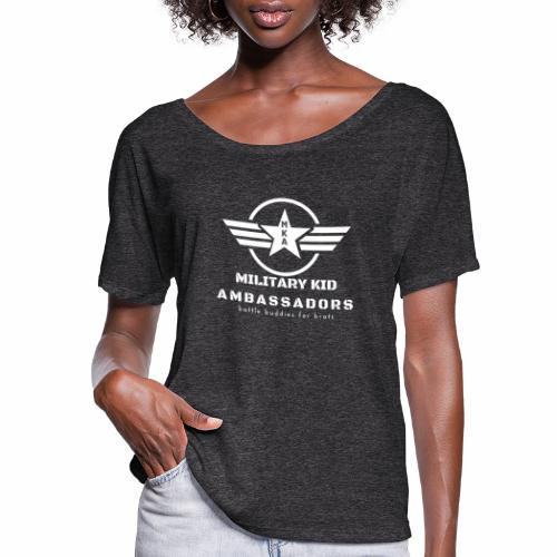 Military Kid Ambassador White - Women's Flowy T-Shirt