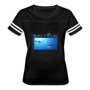 Respect The Shark - Women's Vintage Sport T-Shirt