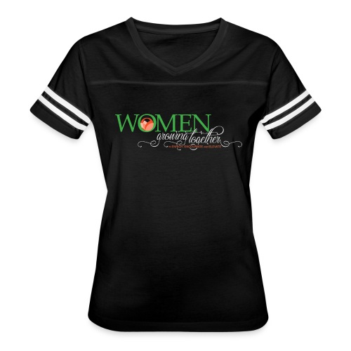 WGT FINAL Logo White Words - Women's Vintage Sport T-Shirt