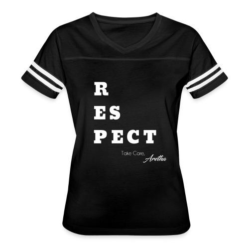 Respect Aretha - Women's Vintage Sport T-Shirt