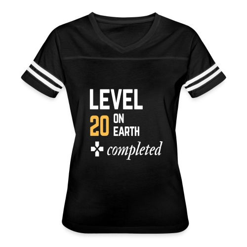 20th birthday gift level 20 on earth completed - Women's Vintage Sport T-Shirt