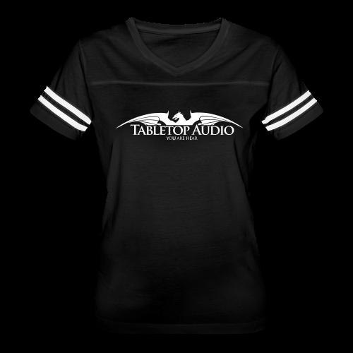 Tabletop Audio: Logo White - Women's Vintage Sport T-Shirt