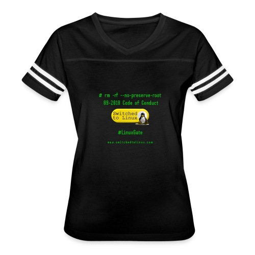 rm Linux Code of Conduct - Women's Vintage Sport T-Shirt