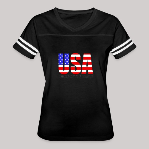 USA Home Of The Brave - Women's Vintage Sport T-Shirt