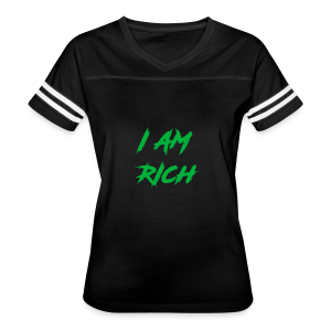 I AM RICH (WASTE YOUR MONEY) - Women's Vintage Sport T-Shirt