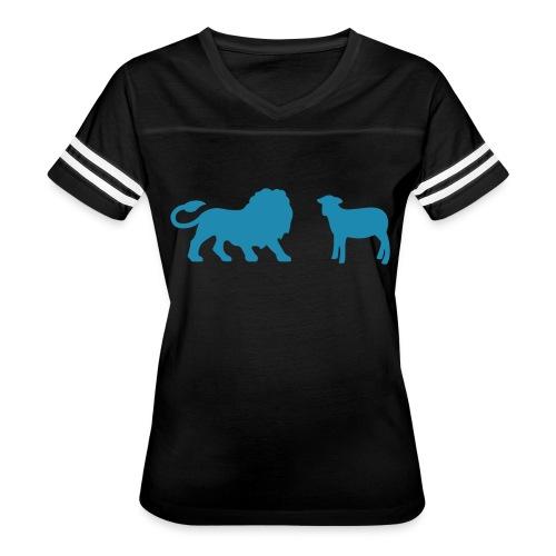 Lion and the Lamb - Women's Vintage Sport T-Shirt
