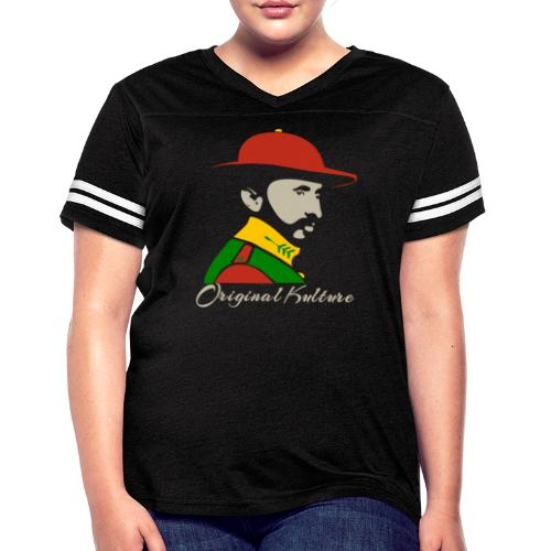 Haile Selassie Rasta Print - Women's Vintage Sport T-Shirt