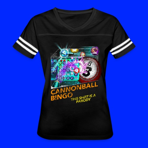 Vintage Cannonball Bingo Box Art Tee - Women's Vintage Sport T-Shirt