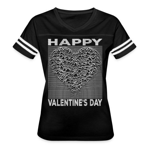 Love Lines Happy Valentines Day Heart - Women's Vintage Sport T-Shirt