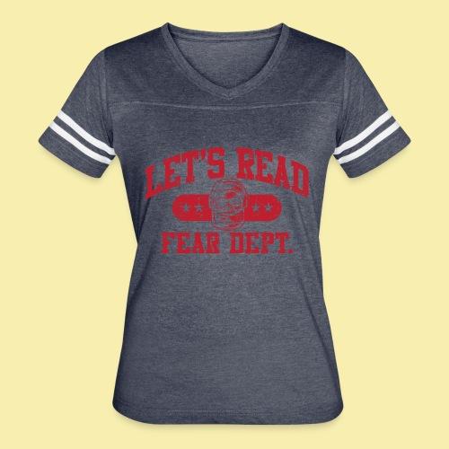 Fear Dept - Athletic Red - Inverted - Women's Vintage Sport T-Shirt