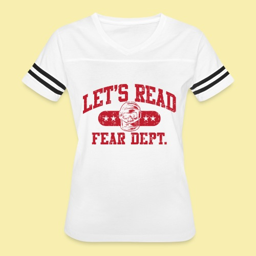 Fear Dept - Athletic Red - Inverted - Women's Vintage Sport T-Shirt