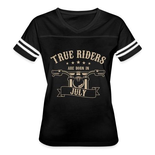 True Riders are born in July - Women's Vintage Sport T-Shirt