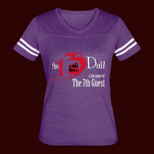 The 13th Doll Logo - Women's Vintage Sport T-Shirt