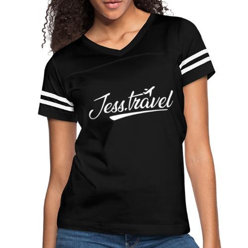 Jess Travel Logo White - Women's Vintage Sports T-Shirt