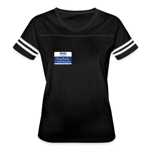 Snortoshi Crakamoto Name Tag Bitcoin Creator - Women's Vintage Sport T-Shirt