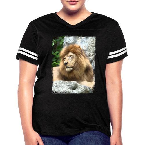 Lion On Rocks - Women's Vintage Sport T-Shirt