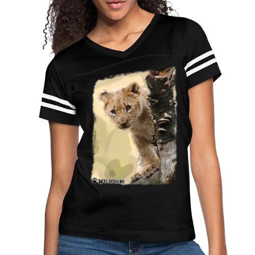 Lion Cub Peeking - Women's Vintage Sport T-Shirt
