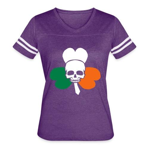 irish_skull_shamrock - Women's Vintage Sport T-Shirt