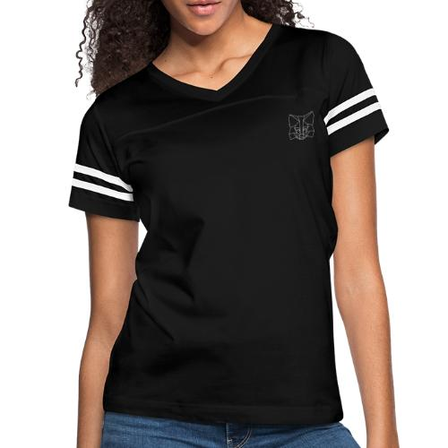 MetaMask Fox Outline - White - Women's Vintage Sport T-Shirt