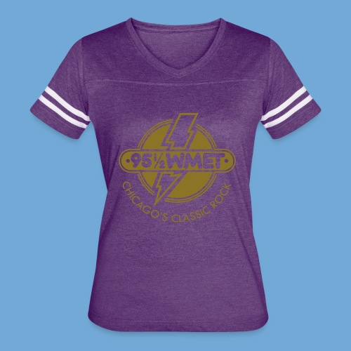 WMET logo (variable color) - Women's Vintage Sport T-Shirt