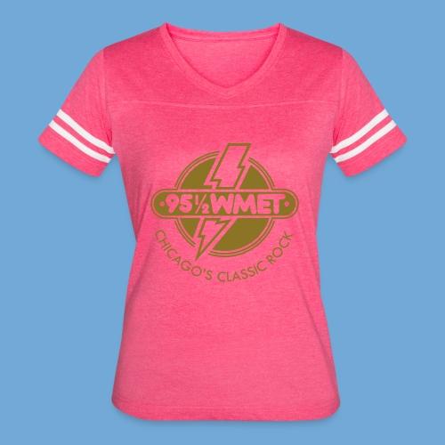 WMET logo (variable color) - Women's Vintage Sport T-Shirt