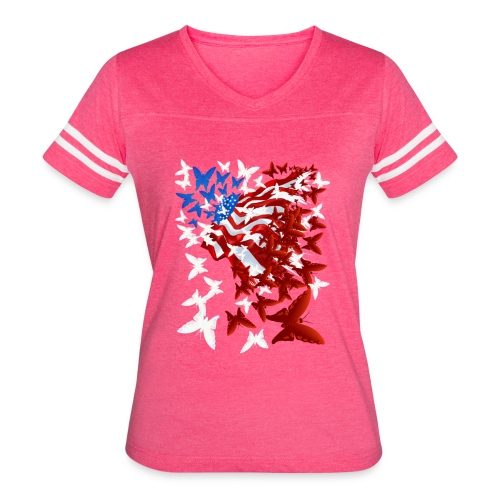 The Butterfly Flag - Women's Vintage Sport T-Shirt