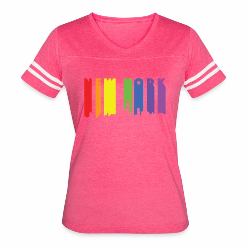 New York design Rainbow - Women's Vintage Sport T-Shirt