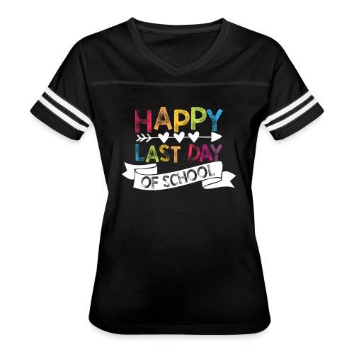 Happy Last Day of School Stamps Teacher T-Shirts - Women's Vintage Sport T-Shirt