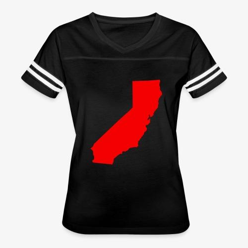 Flip Cali Red - Women's Vintage Sports T-Shirt
