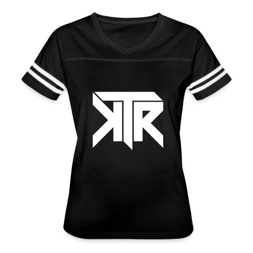 KTR Logo White - Women's Vintage Sport T-Shirt