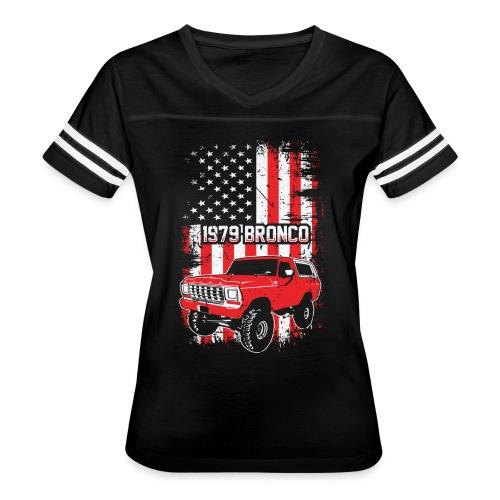 1979 Bronco Red USA T-Shirt - Women's Vintage Sport T-Shirt