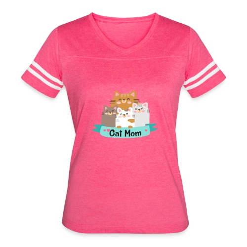 Cat MOM, Cat Mother, Cat Mum, Mother's Day - Women's Vintage Sport T-Shirt