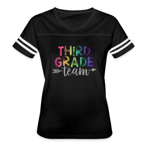 Third Grade Team Teacher T-Shirts Rainbow - Women's Vintage Sport T-Shirt