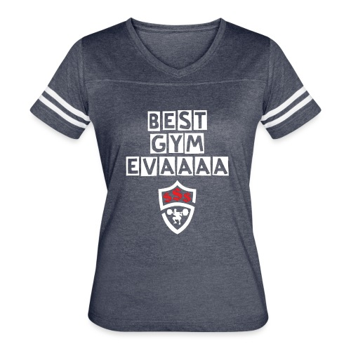 Best Gym Evaaa White and Red - Women's Vintage Sport T-Shirt