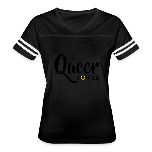 Queer Power T-Shirt 04 - Women's Vintage Sports T-Shirt