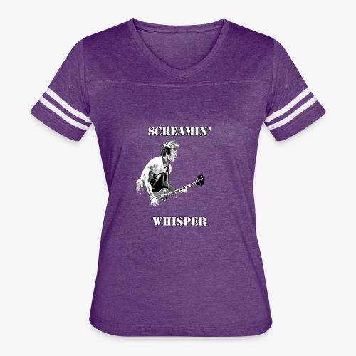 Screamin' Whisper Filth Design - Women's Vintage Sport T-Shirt