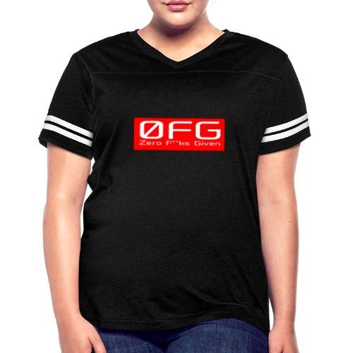 Zero Fks Given - Women's Vintage Sport T-Shirt