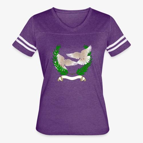 OLIVE BRANCH DOVES - Women's Vintage Sport T-Shirt